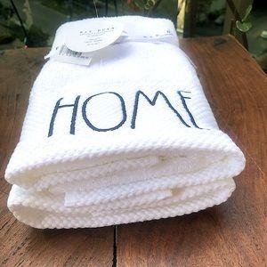 "NEW Rae Dunn ""Home"" Hand Towels"